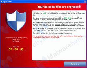 CryptoLocker Ransomware page