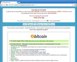 The CryptoWall ransomware page